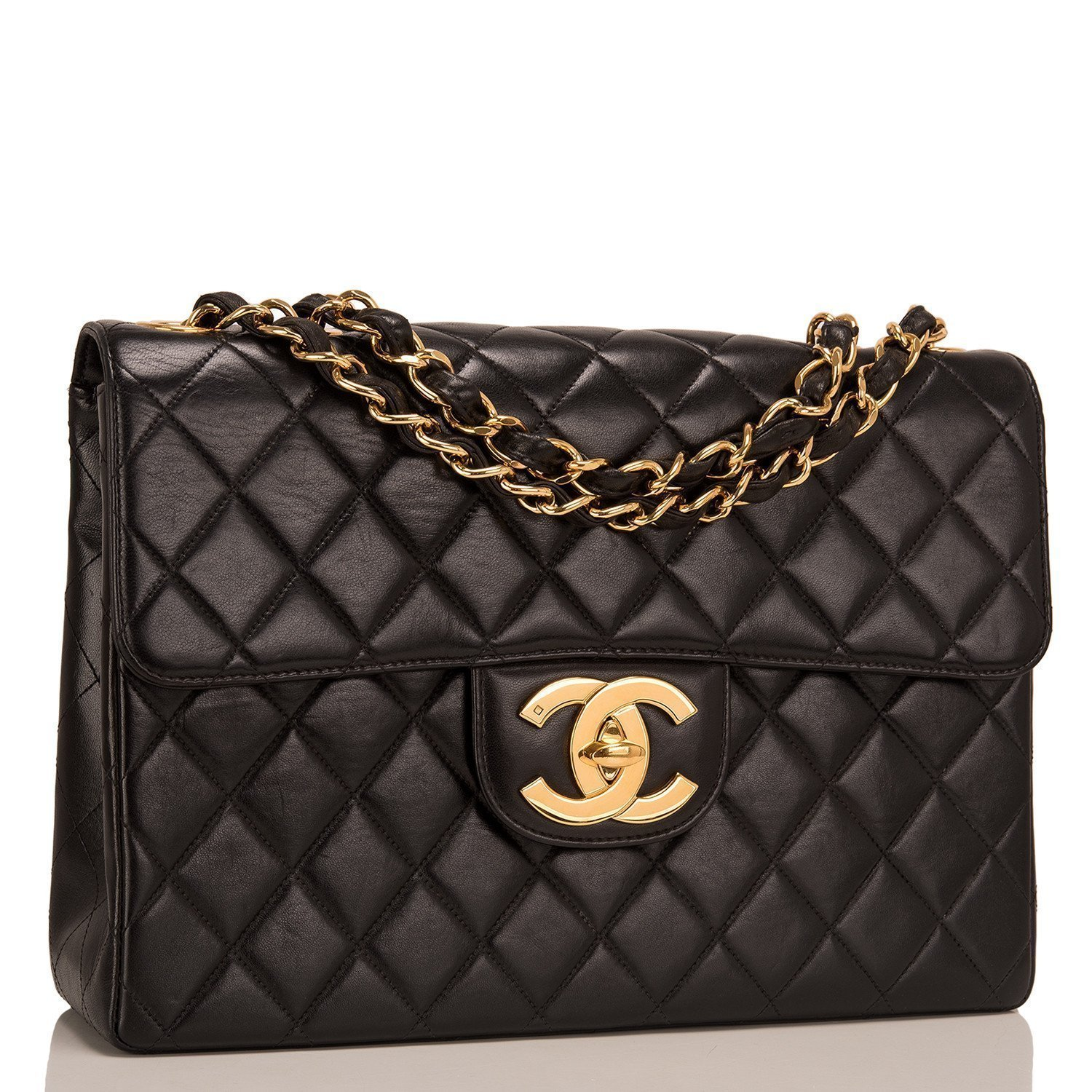 005f45ba38a6 Chanel Vintage Quilted Lambskin Jumbo Classic Flap Bag - SecondsBoutique